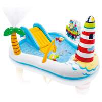 Deals on Intex Kid Friendly Inflatable Fishing Fun Play Center 48 Gal
