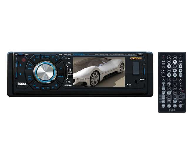 BV7325B BOSS BV7325B 3.2-Inch LCD Bluetooth DVD/CD/USB Receiver