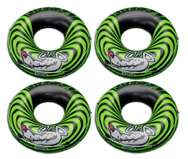 4 x 68209EP 4-Pack Intex River Rat Inflatable Tubes