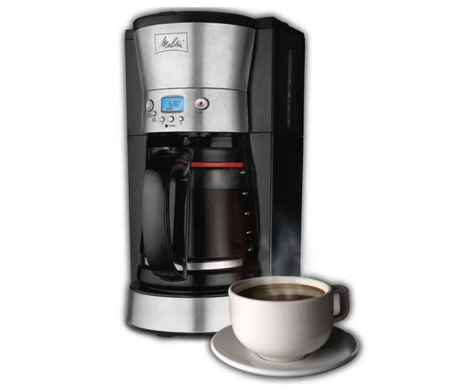 Melitta 46893A Lcd 12-Cup Coffee Digital Maker, Programmable : VMInnovations.com