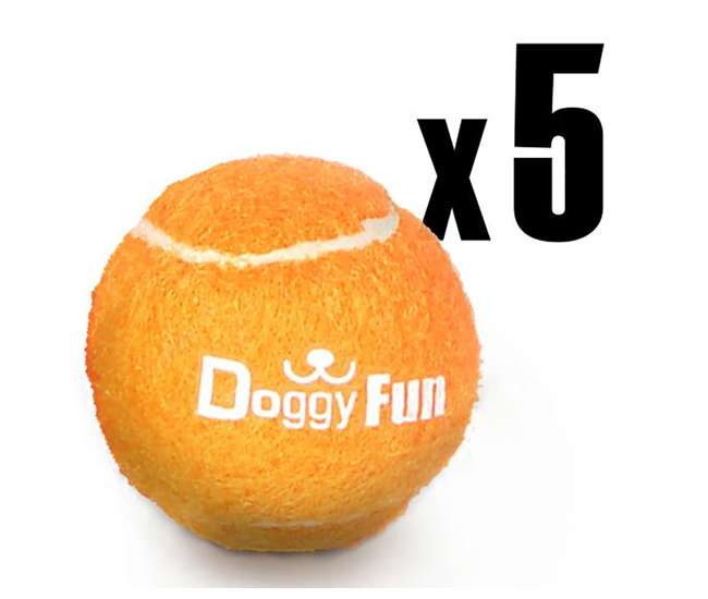 PRTSLDGFBLN6 Pyle Automatic Dog Tennis Ball Launcher 5 Replacement Toy Balls