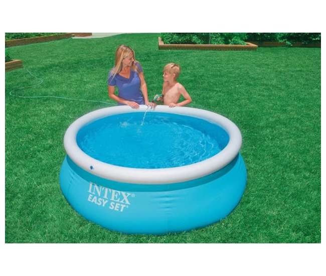 Intex 6 39 x 20 easy set inflatable swimming pool 28101eh for Piscine gonflable intex easy set
