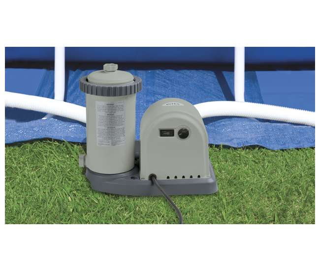 Intex 20 Foot Round Above Ground Ultra Frame Pool Set With Pump 28931t