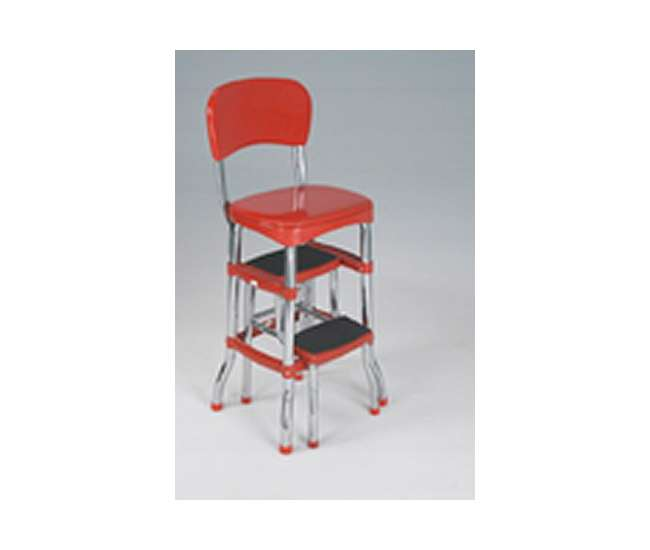 Cosco Retro Chair Amp Slide Out Step Stool Red