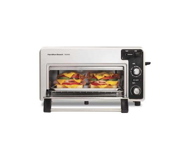 Hamilton beach 22720 toastation toaster oven wide 2 slice for Hamilton beach pioneer woman slow cooker