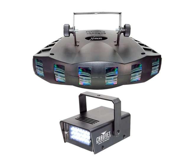 DERBY-X + MINISTROBE-LED Chauvet Derby-X RGB DMX Pro DJ Strobe Light + CH-730 Mini Strobe Light