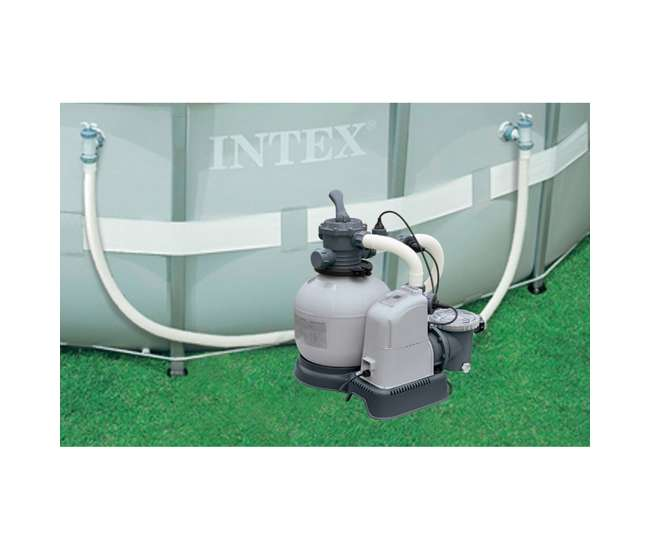Intex 1600 gph saltwater system sand filter pump swimming pool set 28677eg 56677eg for Salt filters for swimming pools