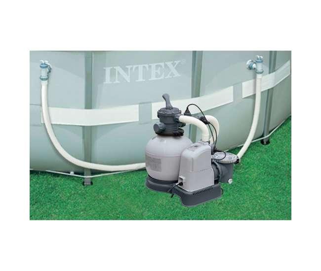 Intex 1600 Gph Saltwater System Sand Filter Pump Swimming Pool Set 28677eg 56677eg