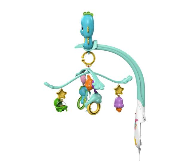 DFP12 Fisher Price 3 in 1 Soothe and Play Seahorse Mobile with Rattles
