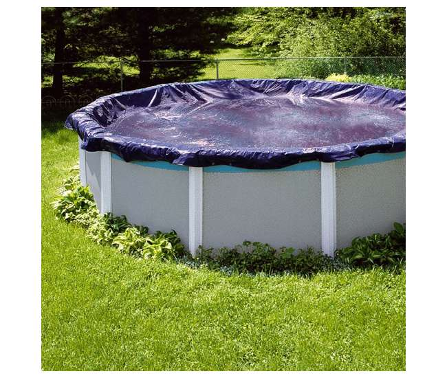S33RD Swimline 33 Foot Heavy Duty Round Above Ground Winter Swimming Pool Cover