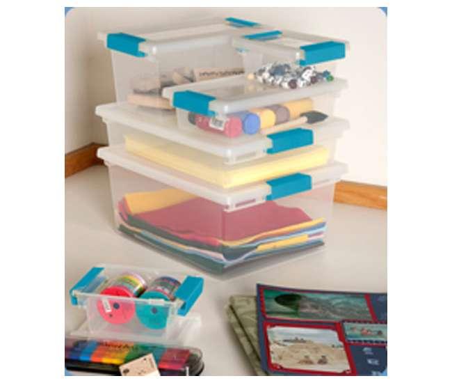 4 x 19628604 Sterilite Medium Clip Box (4 Pack) | 19628604