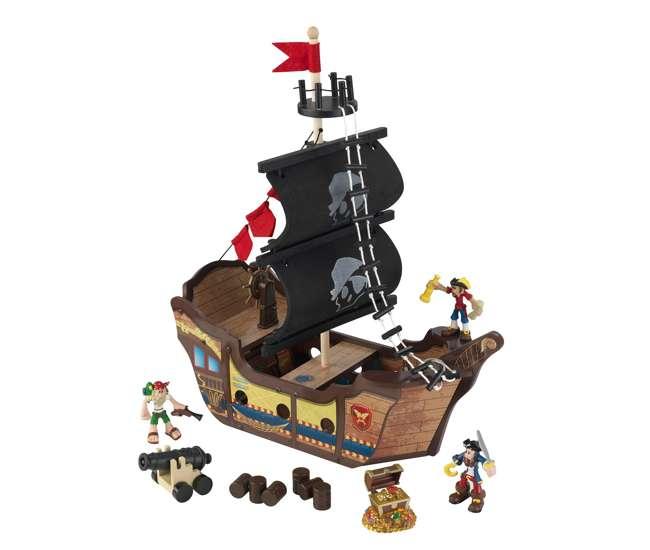 KDK-63300 KidKraft Wooden Pirate Ship Play Set