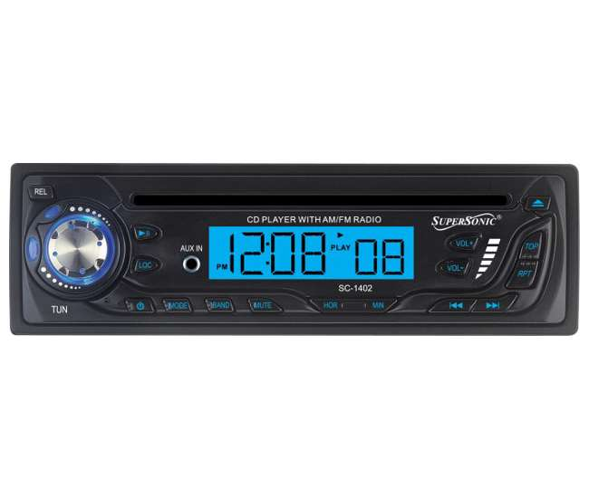 SC-1402SUPERSONIC SC-1402 CD AM/FM Radio Car Audio Player