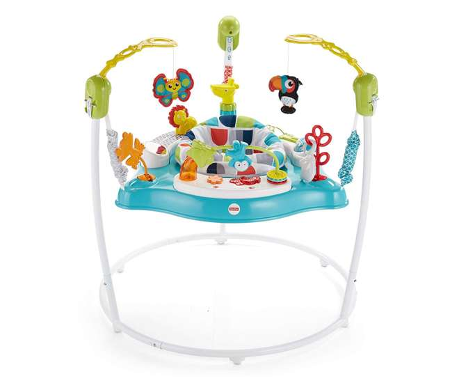 FVC13-U-A Fisher-Price Color Climbers Jumperoo Home Baby Toy Activity Bouncer (Open Box)