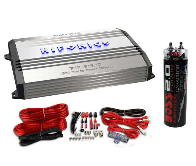 Hifonics Brx1516 1d Monoblock Amplifier With Wiring Kit And Capacitor   Brx1516 1d   Vm