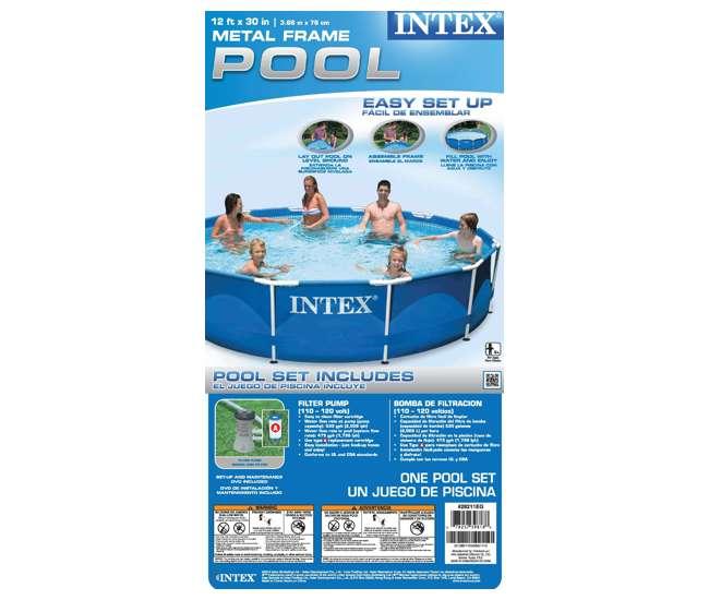 Intex 12 39 X 30 Metal Frame Set Swimming Pool With Filter Pump Skooba Vaccum 28211eh