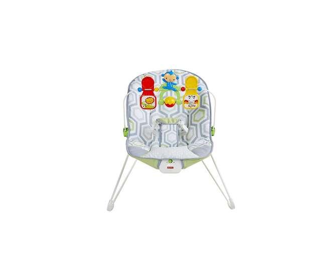 CMR17 Fisher PriceGeo Meadow Interactive Vibrating Safari Baby Bouncer