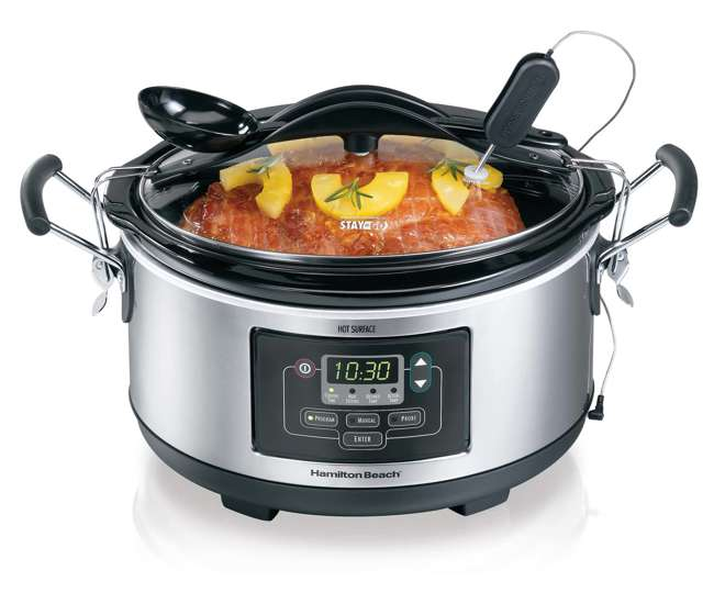 Hamilton beach set n forget 6 qt programmable slow cooker for Hamilton beach pioneer woman slow cooker