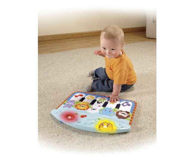P5334 Fisher Price Precious Planet Baby Kick & Play Crib Piano | P5334