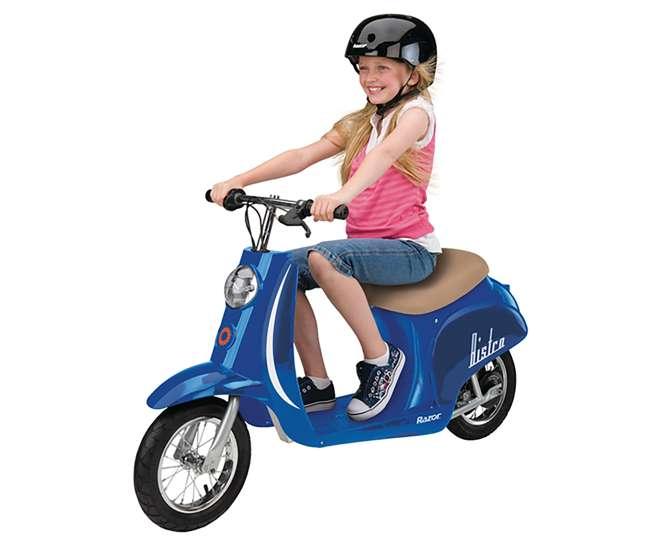 Razor Pocket Mod Electric Retro Scooter Blue 15130641