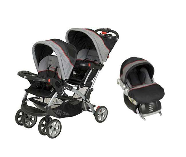 baby trend sit n stand double travel system millennium ss76773 cs31773. Black Bedroom Furniture Sets. Home Design Ideas