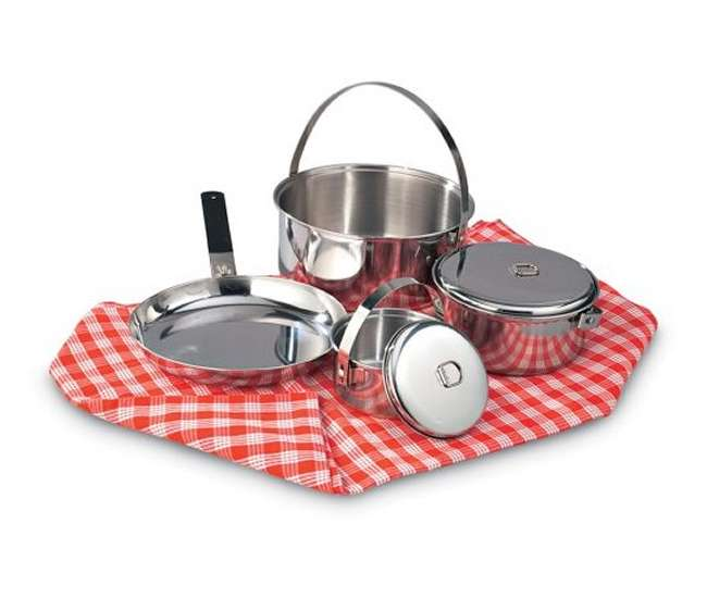 13435 Texsport Family Stainless Steel Cook Set