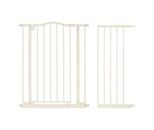 4978 + 4975 North States Supergate Portico Arch Safety Gate, Linen + 13.4-Inch Extension