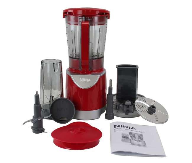 Ninja Extreme 700w Kitchen System Pulse Blender Refurbished Bl208 Bl208 Rb Red