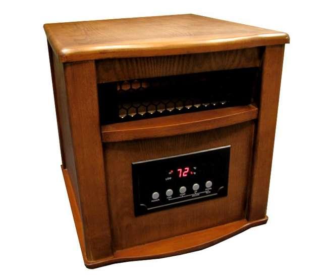 LS-1500-4WCLifeSmart LS1500-4 1500W Infrared Quartz Heater