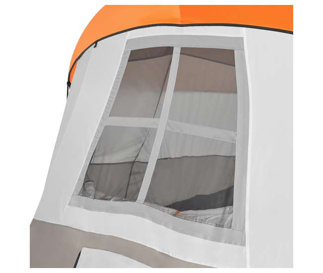 TGT-OLYMPIA-10-B Tahoe Gear Olympia 10 Person 3 Season Camping Tent, Orange and Green (Open Box)