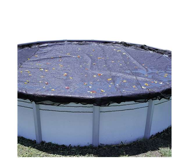 Swimline 12 Foot Round Above Ground Swimming Pool Leaf Net Top Cover Co912