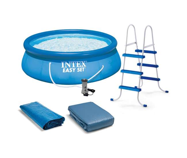 Intex 15 39 x 42 easy set pool complete kit with filter for Intex pool 120 hoch