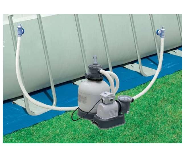 Intex krystal clear 3000 gph sand filter pump 15000 gal for Obi filtersand pool