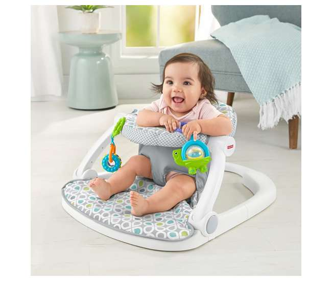 FLD88 Fisher-Price Sit-Me-Up Comfy Interactive Floor Seat Infant Mat Toy (Open Box)