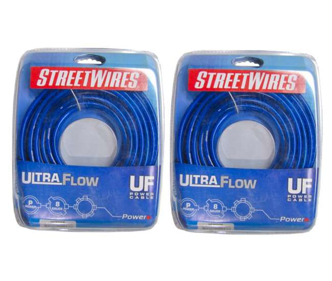 UFX820BStreetwires UFX820B 8 Gauge Power Cable 20 Ft (Pair)