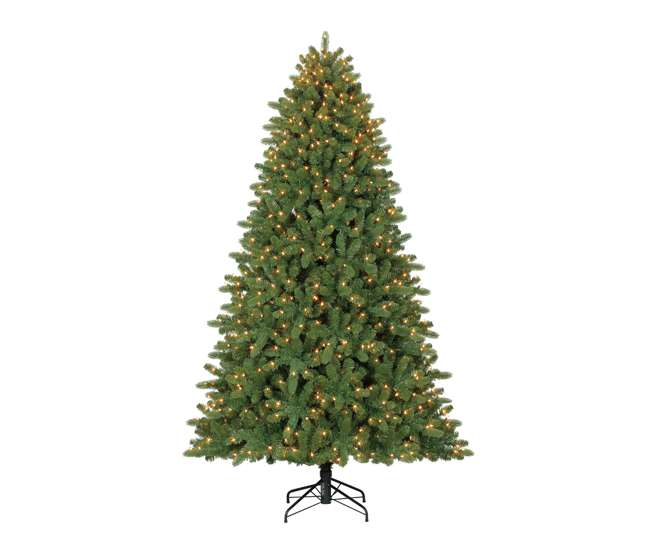 Home Heritage 7 5 Foot Wilmington Pine Pre Lit Christmas