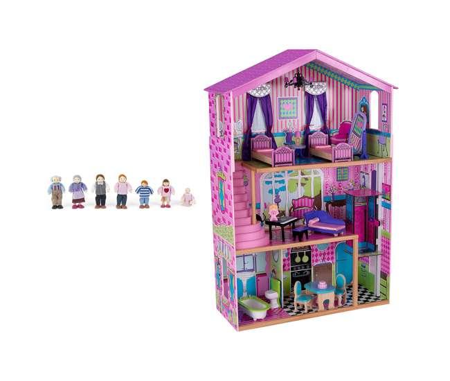 KDK-65255 + KDK-65202 KidKraft Suite Elite Mansion Dollhouse + Doll Family