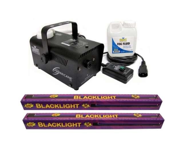 61272 + H700 Chauvet H 700 Fog Machine + (2) 48-Inch UV Black-Lights