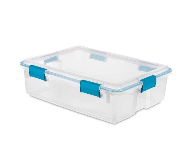 12 x 19314304 Sterilite 37 Quart Thin Gasket Box Storage Containers, 12-Pack | 19314304