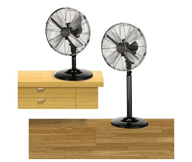 Bionaire 12 inch 2 n 1 adjustable standing and table fan for 12 inch table fan
