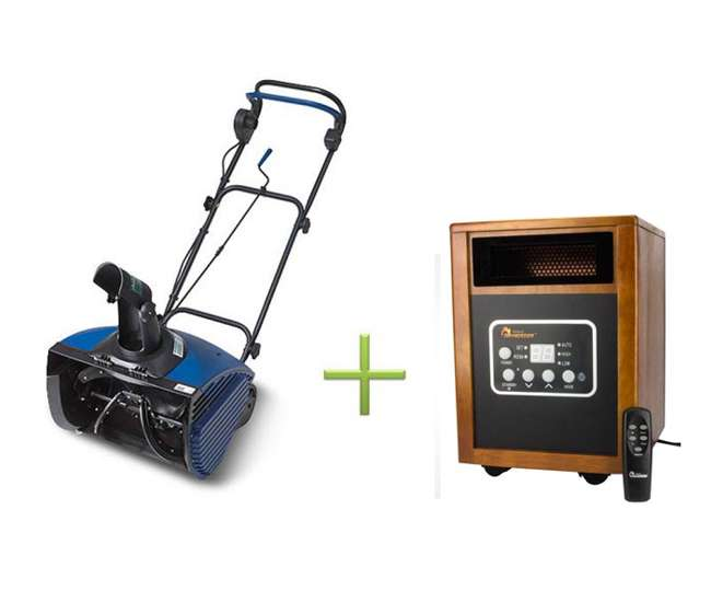 SJ620 + DR-968 Joe Ultra SJ620 13 Amp Electric Snow Blower + Electric DR-968 Infrared Heater