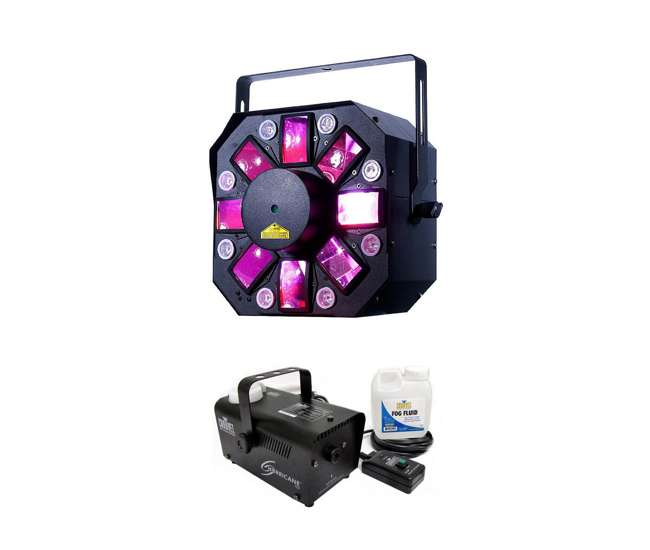 STINGER-II + H700 American DJ Stinger II Light Effect + Chauvet DJ Hurricane H700 Fog Machine