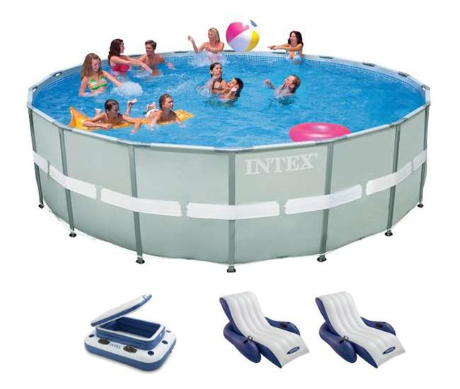 Intex 18 39 X 52 Ultra Frame Swimming Pool W Sand Saltwater System Complete Set 28333eg 2 X