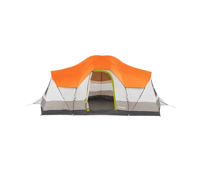 TGT-OLYMPIA-10-B Tahoe Gear Olympia 10 Person 3 Season Outdoor Camping Tent, Orange and Green