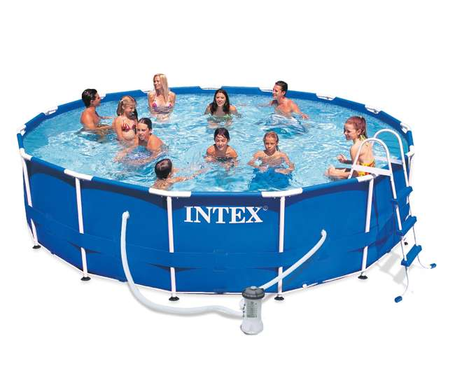 Intex 15 39 X 36 Inch Metal Frame Pool Set 28233eh