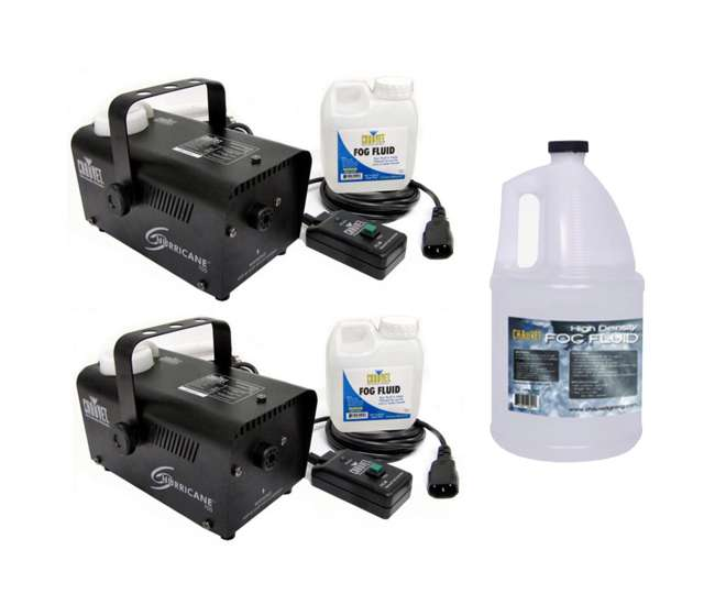 H700 + HDF (2) Chauvet Hurricane H700 Fog Machines w/ HDF High Density Fog Fluid