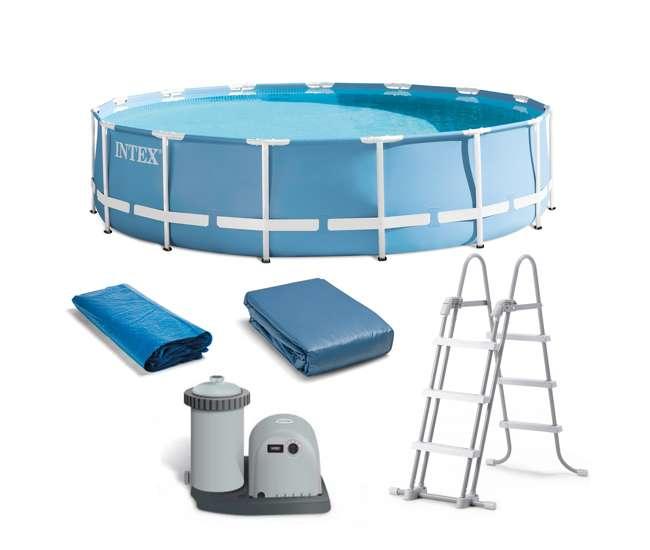 Intex 18 feet x 48 inches prism frame pool set 28751eh for Frame pool obi