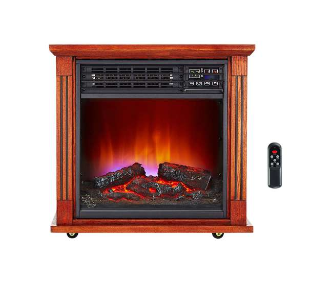 Haier Fireplace Infrared Zone Heater With Dark Oak Finish 2 Pack Hhf15cpc