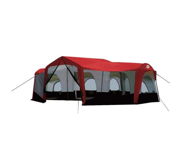 TGT-CARSON-18-B-U-A Tahoe Gear Carson 3 Season 14 Person 25x17.5' Family Cabin Tent, Red (Open Box)
