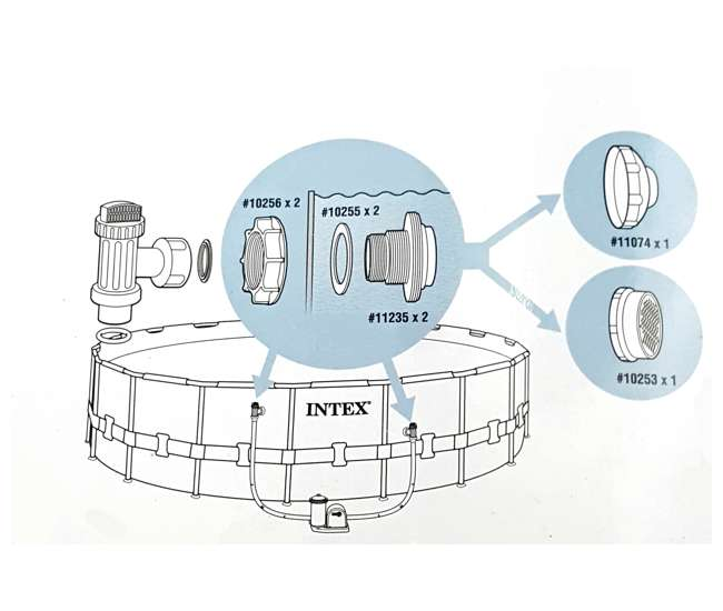 Intex 25015 Large Above Ground Pool Inlet And Outlet